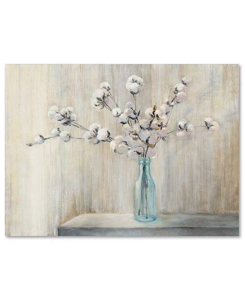 "Trademark Global Julia Purinton 'Cotton Bouquet' 35"" x 47"" Canvas Wall Art"