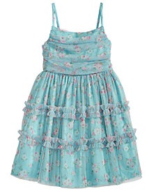 Bonnie Jean Toddler Girls Floral-Print Mesh Dress