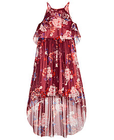 Bonnie Jean Big Girls Plus Floral-Print Halter Maxi Dress