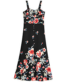Monteau Big Girls Floral-Print Maxi Dress