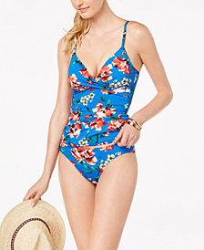 Lauren Ralph Lauren Havana Floral Printed Twist-Front Underwire Tankini Top & Bikini Bottoms