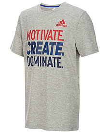 adidas Big Boys Motivate-Print T-Shirt