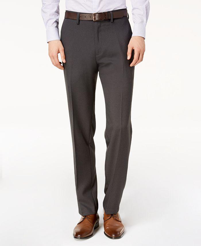Kenneth Cole Reaction - Men's Modern-Fit Micro-Check Dress Pants