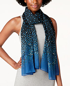 Calvin Klein Ombré Dot Chiffon Scarf & Cover-Up