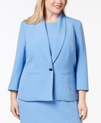 Plus Size One-Button Jacket
