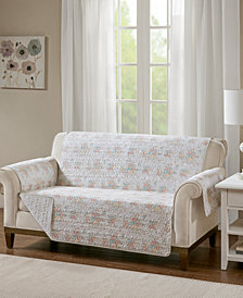 Madison Park Serendipity Quilted Reversible Printed Loveseat Protector