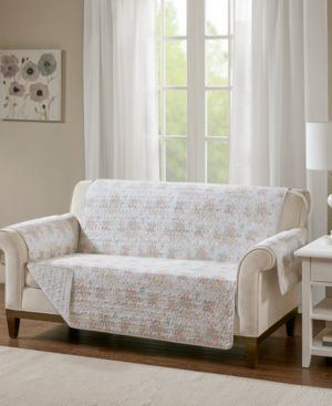 Madison Park Serendipity Quilted Reversible Printed Loveseat Protector 6199055