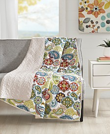 "Mi Zone Tamil 60"" x 70"" Quilted Paisley Medallion-Print Throw"