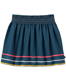 Tommy Hilfiger Ric Rac-Trim Cotton Denim Skirt, Big Girls