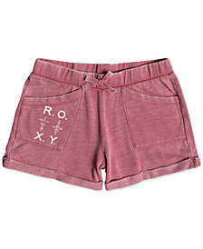 Roxy Rolled-Cuff Shorts, Big Girls