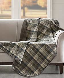 "Tasha Reversible Plaid 50"" x 70"" Quilted Throw"