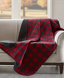"Reversible Plaid 50"" x 70"" Quilted Throw"