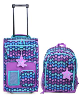 Kids 2-Pc. Printed Carry-On Suitcase & Backpack Set