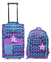 40a288b442f1 Crckt Kids 2-Pc. Printed Carry-On Suitcase   Backpack Set