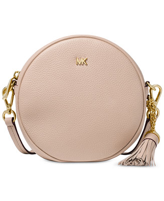 Michael Kors Pebble Leather Circle Canteen Crossbody   Reviews - Handbags    Accessories - Macy s 45cb01e6654c9