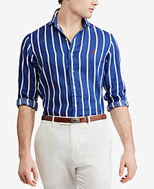 Polo Ralph Lauren Men's Striped Linen Classic Fit Shirt
