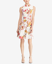 American Living Floral-Print Crepe Dress