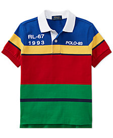 Polo Ralph Lauren Toddler Boys CP-93 Striped Cotton Jersey Polo Shirt