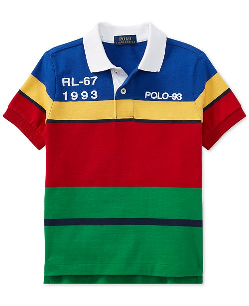 424de36fcf6e ... Polo Ralph Lauren Big Boys CP-93 Striped Cotton Jersey Polo Shirt ...
