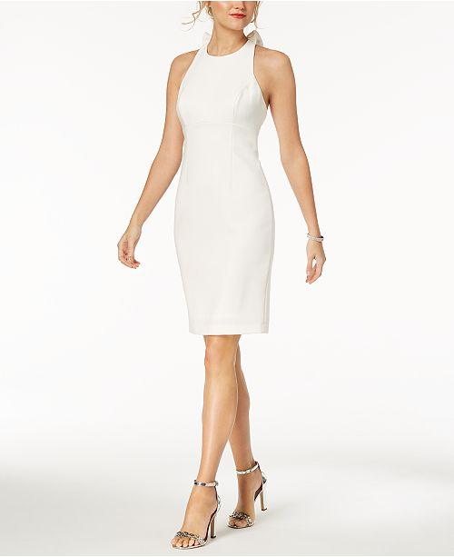 Vince Camuto Ruffle-Back Halter Sheath Dress - Dresses - Women - Macy s 22b1245480