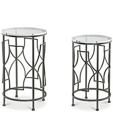 Lexi Round Nesting Table (Set of 2), Quick Ship