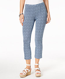 MICHAEL Michael Kors Jacquard Capri Pants in Regular & Petite Sizes