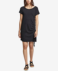 Sanctuary Bryce Cotton Lace-Up T-Shirt Dress