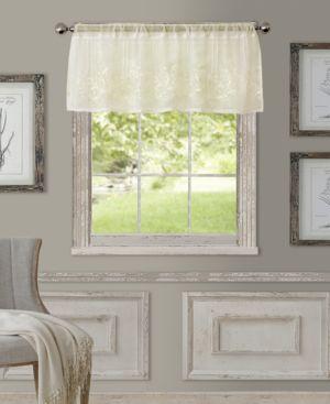 """Elrene Sheer Addison 60"""" x 17"""" Window Valance 477606"""