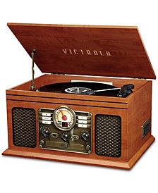 Innovative Technology Victrola 6-in-1 Nostalgic Bluetooth Record Player