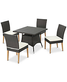 Brayden 5-Pc. Outdoor Dining Set, Quick Ship