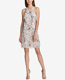 Tommy Hilfiger Floral Ruffled Sheath Dress