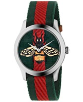 eabc8567fbc2 Gucci Unisex Swiss Le Marché des Merveilles Green-Red-Green Web Nylon Strap  Watch