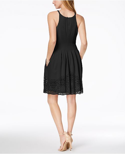 307165fbc6a5 Vince Camuto Laser-Cut Fit & Flare Dress & Reviews - Dresses - Women ...