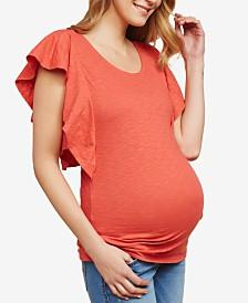 Jessica Simpson Maternity Flutter-Sleeve T-Shirt