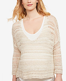 Jessica Simpson Maternity V-Neck Cotton Sweater