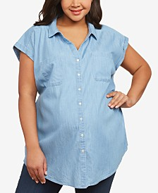 Motherhood Maternity Plus Size Button-Front Shirt