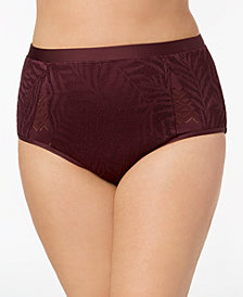 Jessica Simpson Plus Size Crochet High-Waist Bikini Briefs