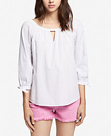 Sanctuary Cotton 3/4-Sleeve Top