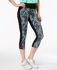 Jessica Simpson The WarmUp Juniors' Printed Illusion Cropped Leggings