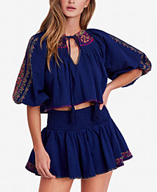 Free People Cherry Bomb Top & Shorts Set