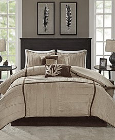 Dune 7-Pc. Faux-Suede Queen Comforter Set
