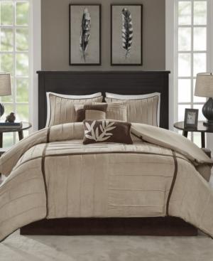 Madison Park Dune 7-Pc. Faux-Suede King Comforter Set Bedding