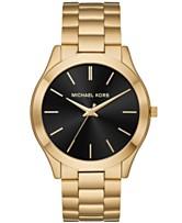 7b7e616e7b97 Michael Kors Men s Slim Runway Gold-Tone Stainless Steel Bracelet Watch 44mm