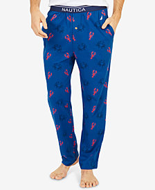 Nautica Men's Crab & Lobster Print Cotton Pajama Pants