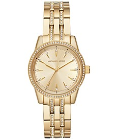 Women's Mini Ritz Gold-Tone Stainless Steel Bracelet Watch 33mm, Created for Macy's