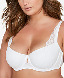 Ashley Graham Diva Plus Size Lace Demi Bra 405087