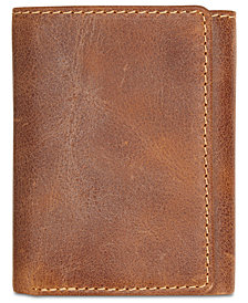 Patricia Nash Men's Leather Tri-Fold Wallet