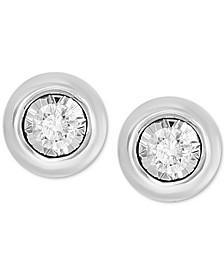 Bubbles by EFFY® Diamond Bezel Frame Stud Earrings (1/5 ct. t.w.) in 14k White Gold or 14k Yellow Gold