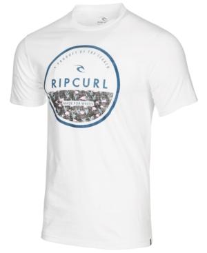 Rip Curl Men's White Tip Circle Logo Graphic-Print T-Shirt