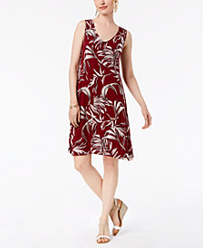 Style & Co Petite Printed Sleeveless A-Line Dress, Created for Macy's